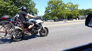 motorcycle bike rack youtube
