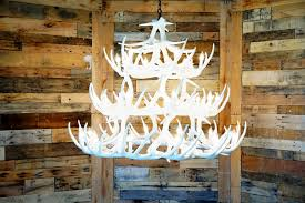 pure white whitetail 42 cast antler chandelier