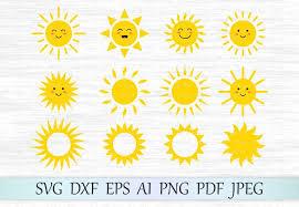 Free transparent sun vectors and icons in svg format. Sun Svg Sun Clipart Cute Sun Svg File Sun Face Svg 72403 Svgs Design Bundles