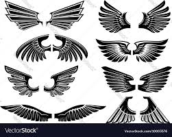 Tribal Angel Designs Tribal Angel Wings For Heraldry Or Tattoo Design