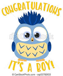 Congratulations For A Baby Boy Congratulations It S A Boy Colorful Poster