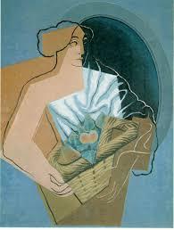 description of the artwork a woman with a basket