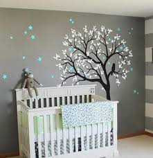 large owl hoot star tree kids nursery decor wall decals wall art baby decor