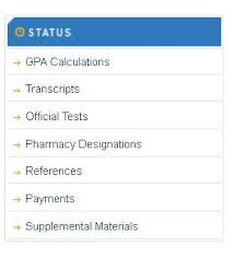 the status section