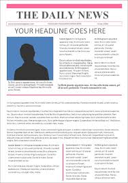 Old Fashion Newspaper Template Free 53 Amazing Newspaper Templates In Pdf Ppt Word Psd