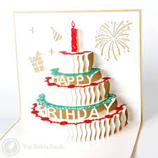 Birthday Cake With Candles Handmade 3d Pop Up Birthday Card Pop