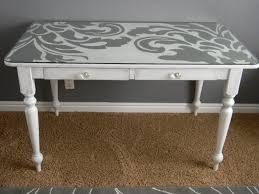 Furnitures:Artistic White Painted Desk Idea Artistic White Painted Desk Idea