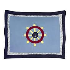 nautical pillow shams. Contemporary Pillow Sweet Jojo Designs Come Sail Away Nautical Pillow Shams For Amazoncom