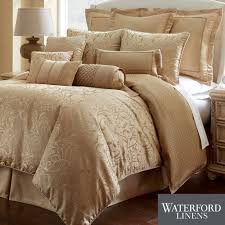 lynath gold comforter bedding by waterford linens  gold comforter