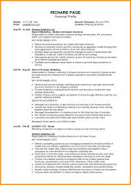 Resume Security Clearance Example Best Of Resume Writing A Profile For Resume