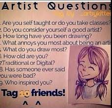 the book of random ness artist questions tag wattpad