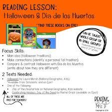 Dia De Los Muertos And Halloween Venn Diagram Reading Lesson Halloween Dia De Los Muertos Day Of The Dead
