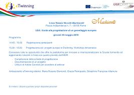 Liceo Statale Niccolò Machiavelli Piazza Indipendenza n. 7 – 00185 Roma  UDA: Guida alla progettazione di un gemellaggio europ