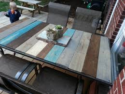 replace glass patio table top with tile patio designs