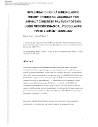 Elastic Theory Of Design Pdf Investigation Of Layered Elastic Theory Prediction