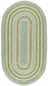 braided rug mint oval