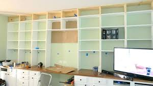 desk entertainment center combo build a wall to wall built in desk and bookcase within wall