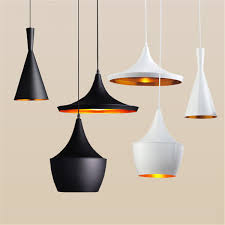 indoor light tom dixon copper design shade pendant lamp e27 bulbs beat light ceiling lamp black white home decoration abc size 3pcs set