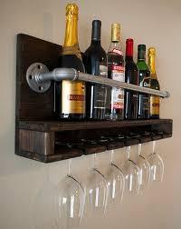 Amazing 24 Bottle Wine Rack 18 Glasses Storage Wood Bottle Holder Home  Inside Wine Rack With Glass Holder ...