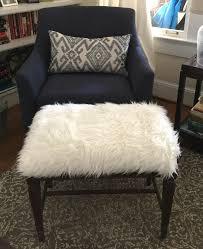 diy faux fur foot stool thediybungalow com