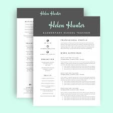 Gallery Of Resume Template Cv Template For Word Two Page Resume