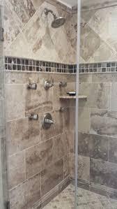 bathroom remodel stores. Jinshan Coffee Travertine And Dark Emperador Marble #thetileshop Bathroom Remodel Stores