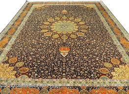 blue gold rug silk on rug brown blue gold medallion rugs traditional blue and gold wool