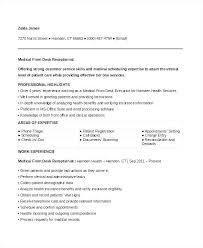 Spa Receptionist Resume Simple Front Desk Receptionist Resume Samples Dental Office Mmventuresco