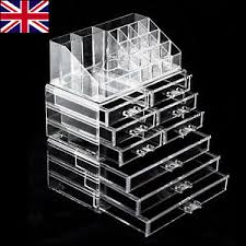 image is loading 9 drawer acrylic makeup jewellery cosmetic storage organiser