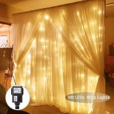 Curtain Led Lights Uk Led Curtain Lights Solmore Window Curtain Fairy Lights 3mx3m 300 Leds 8 Modes Icicle String Lights Uk Plug For Indoor Outdoor Christmas Home Party