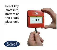 fire alarm call point reset key kac