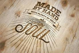 3d text logo generator 2 old wood style by mucahit gan
