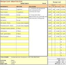 menu spreadsheet template menu recipe cost spreadsheet template google recipes