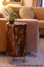 ... Charming Black Trunk Coffee Table Stumped How To Make A Tree Stump Table  The Art Of ...