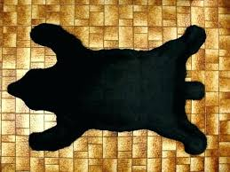 faux bear rug real skin rugs cost