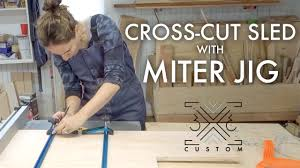 Making a Cross Cut Sled // <b>Miter</b> Jig // Stop Block // T-<b>Track</b> ...