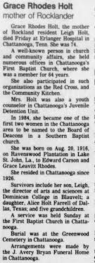 Obituary of Grace Rhodes Holt Rockland Journal News - Newspapers.com