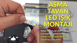 Led Işık-Led Şerit Asma Tavan Montajı-Led Nasıl Bağlanır? Alçıpan Led Işık  Uygulaması - YouTube