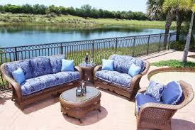 wicker patio furniture cushion ideas