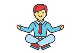 meditation businessman office. interesting businessman businessman sitting in yoga pose business meditation corporate office  worker relaxation concept line throughout meditation office o