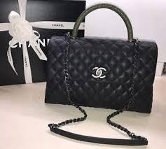 chanel bags 2017 black. image is loading new-chanel-2017-coco-handle-black-caviar-medium- chanel bags 2017 black