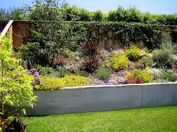 retaining wall flower bed ideas landscape mediterranean with wood