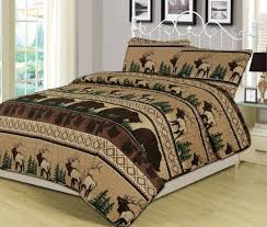 mountain lodge king bed for