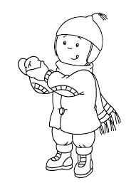 Bambino Che Gioca Con Palle Di Neve Disegno Da Colorare Inverno