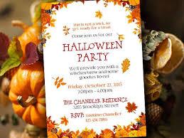 Pumpkin Invitations Template Halloween Party Invitation Template Fall Party Invitation