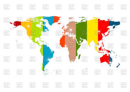 Colorful Abstract World Map Background Stock Vector Image