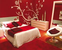 Red and White Bedroom     Interior Designing Ideas