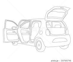 自動車 車 電気自動車 モノクロのイラスト素材 Pixta
