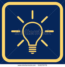 vector square blue icon lighting bulb. wonderful vector square blue icon lighting bulb light yellow image style is to inspiration decorating l