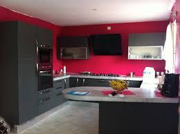 Cuisine Moderne Marron Et Avec Rouge Noir Habitsofhappiness Co
